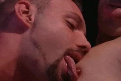 naughty homosexual men Licking Their Tongues And sucking ramrods