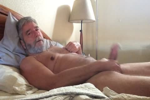 Grey Beard Jerks To Porn W Poppers