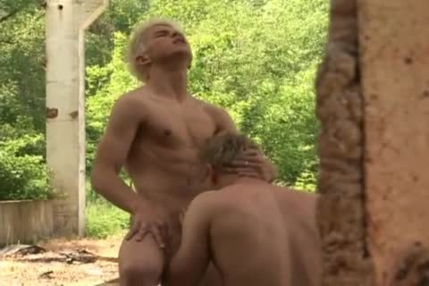 Czech men Have Some Interesting Outdoor Action