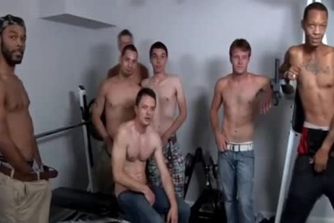 handsome Chris gets plowed unprotected By Hunks In The Gym