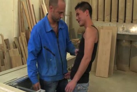 Three attractive males decide To hammer At Work