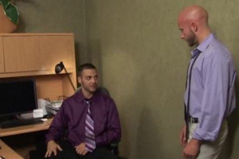 beautiful homosexuals slamming In The Office