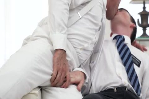 Ginger Bottom Passionately poked raw By older Priest