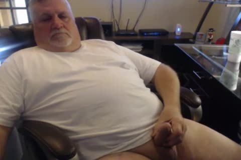 older man cum On cam